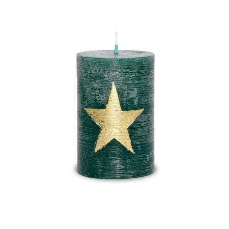 POLAR Kerze ORION mit Raureif-Effekt 100/68, grün