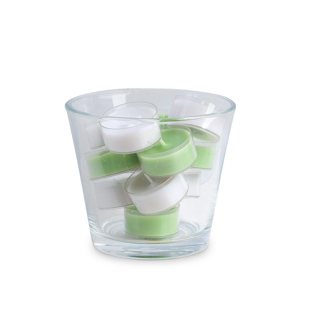 Kerzenglas mit 12 Clear cups