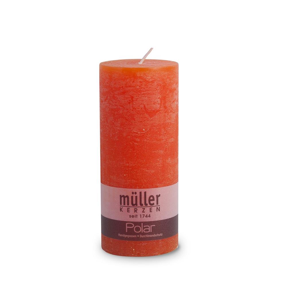 POLAR Kerze mit Raureif-Effekt 160/68