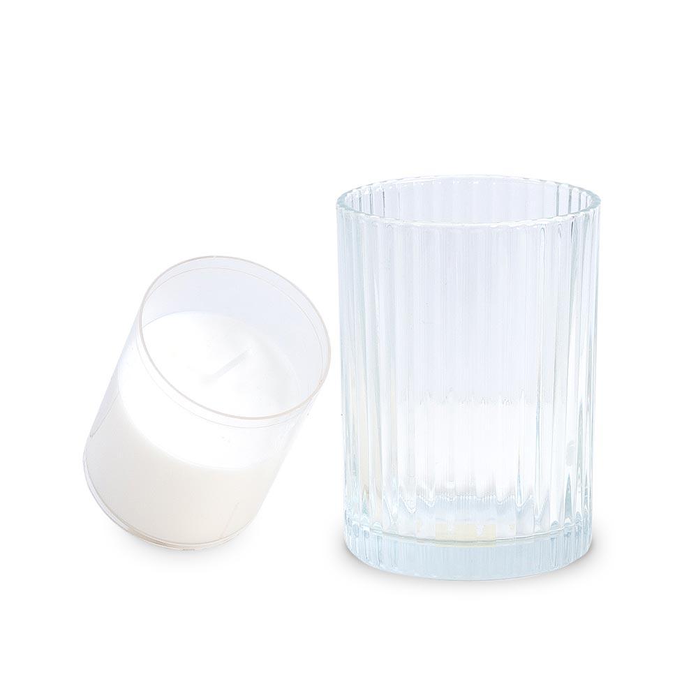 Refill-it Kerzenglas mit Einsatz