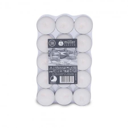 Qualitäts-8h-Teelichte im 30er Flatpack