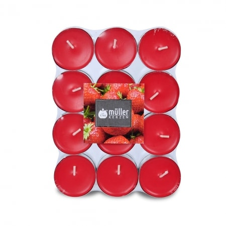 Aromatic Art Duft-Lichte im 24er Flatpack, Strawberry Love