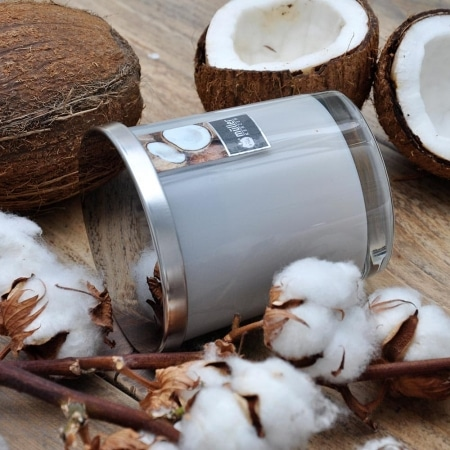 Aromatic Art Maxi Duft-Kerzenglas mit Deckel, Coconut Island