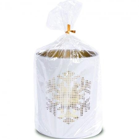 "Kerzenglas ""Schneeflocke"" mit Teelicht 120/100 mm"