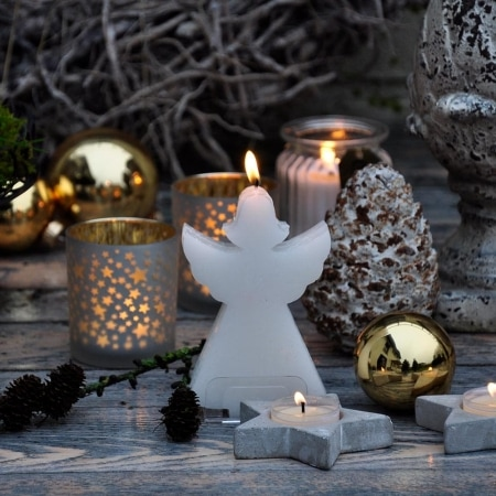 "Formenkerze ""Weihnachtsengel"", 12 cm"