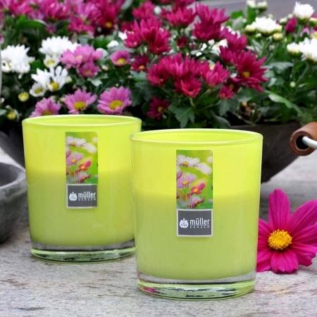 Aromatic Art Maxi Duft-Kerzenglas mit Deckel, Flower Garden