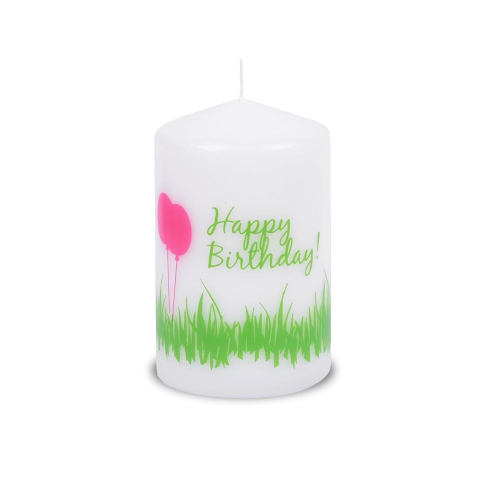 """""""Happy Birthday"""" BSS-Stumpen mit Spruch, weiß"""