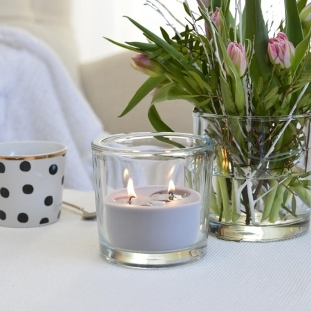 """Zwei-Docht-Kerzenglas """"Finca"""" 120/123, grau"""