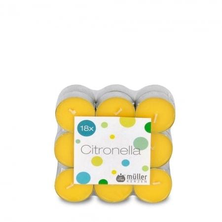 Citronella Duft-Lichte 18er Flatpack