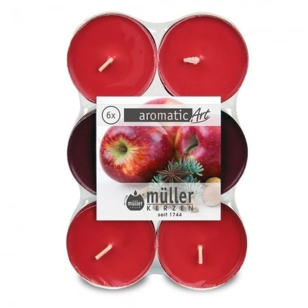 Maxi Duft-Lichte 6er, Winter Apple