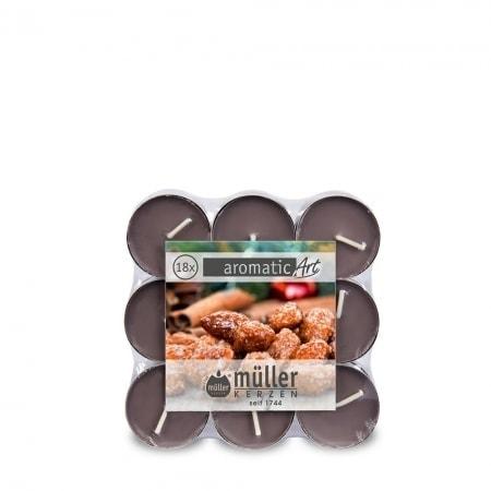 Duft-Lichte im 18er Flatpack, Sweet Almond
