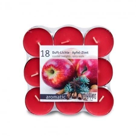Duft-Lichte im 18er Flatpack, Winter Apple