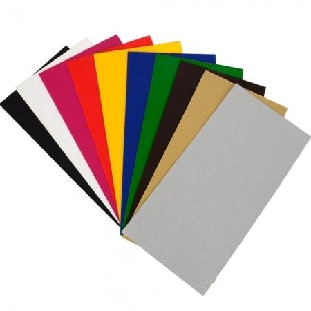 """Wachsplatten """"Metallic"""", 10 Stück, farbig sortiert"""