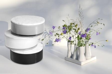 """Duft-Kerzenglas """"ARTISAN"""" mit Marmordeckel, 200 mm"""