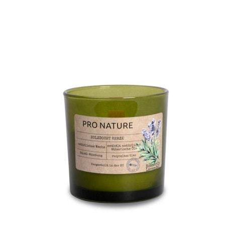 "Duftglas ""PRO NATURE"" mit Rapsöl und Holzdocht"