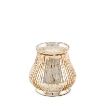 Teelichtleuchter aus Glas 11 cm