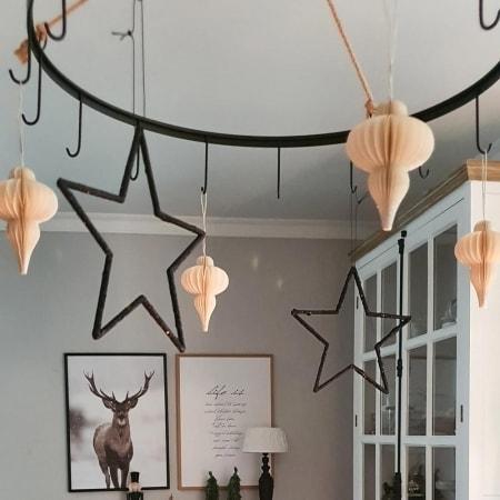 Kunststoffaufhänger Stern
