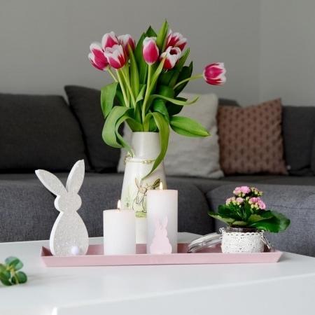 Deko-Tablett, 44 cm, rosa