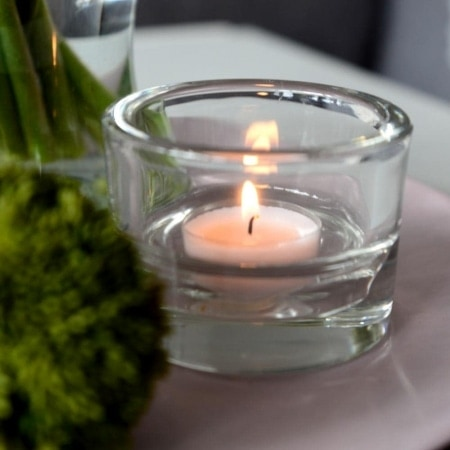 Glashalter für Teelicht/Maxilicht