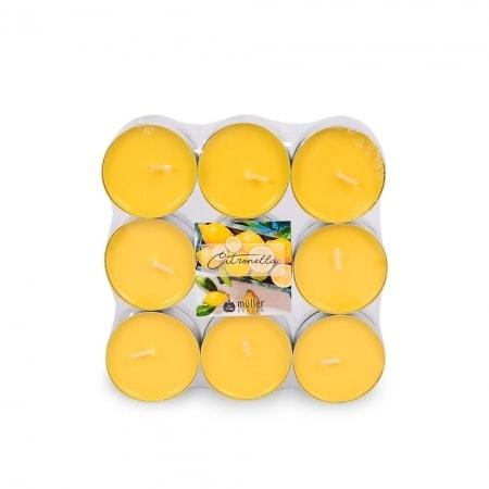 Citronella Duft-Lichte, 18er Flat Pack