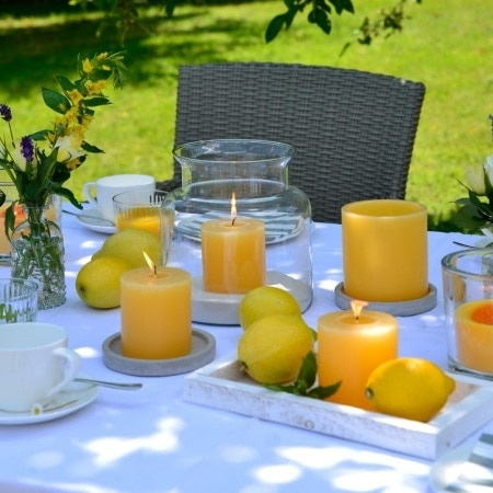"""Polarlicht """"Summer"""" mit Teelicht 105/105"""