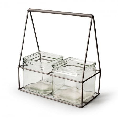 Metallschaukel + 2 Gläser