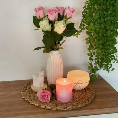 "Duftkerzenglas ""Pomponella"" mit Holzdeckel"